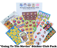 GOING TO THE MOVIES Theme Sticker Club Pack *Limited-Edition*