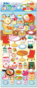 Bear & Bunny Cafe Puffy Stickers *NEW!