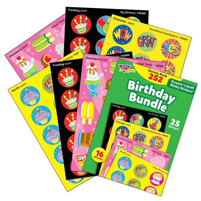 Birthday Bundle Scratch 'n Sniff Stinky Stickers Variety Pack