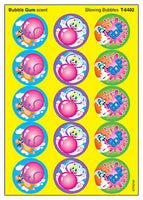 Blowing Bubbles Scratch 'n Sniff Stinky Stickers (Bubble Gum Scent)