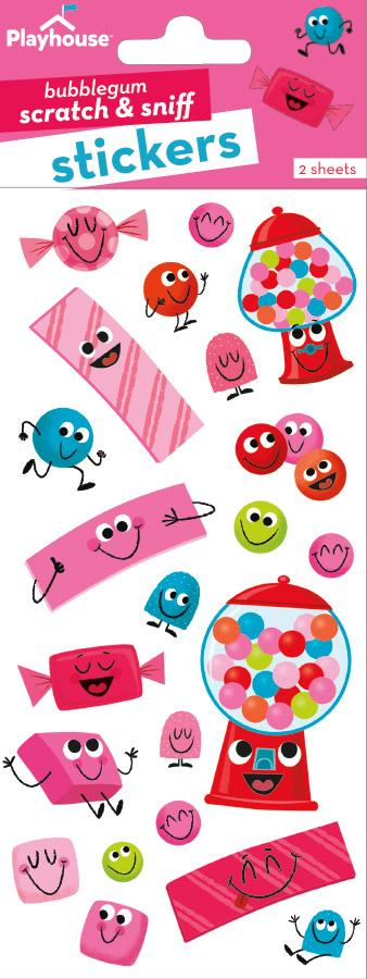 Bubble Gum Cuties Scratch & Sniff Stickers