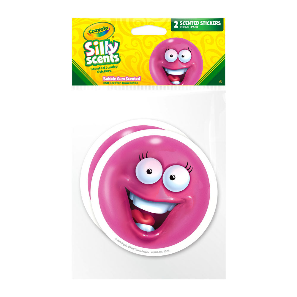 Jumbo Bubble Gum Ball Crayola Silly Scents Scratch & Sniff Stickers