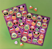 Candy Corn Costumes Scratch and Smell Sticker Sheets (2)