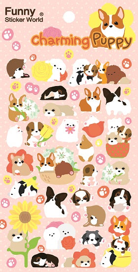 Puppy Love Puffy Stickers *NEW!