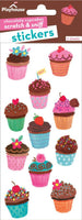 Chocolate Iced Cupcakes Scratch & Sniff Stickers