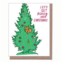 Christmas Tree Cat Scratch & Sniff Greeting Card