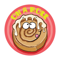 Cinnamon Roll Dr. Stinky Scratch-N-Sniff Stickers