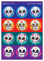 Colorful Skulls Scratch 'n Sniff Stinky Stickers (Vanilla Scent)