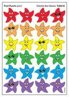 Colorful Star Smiles Scratch 'n Sniff Stinky Stickers (Fruit Punch Scent)