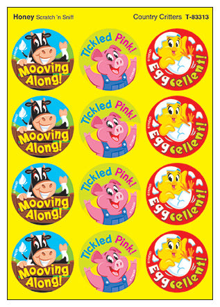 Country Critters Scratch 'n Sniff Stinky Stickers (Honey Scent)