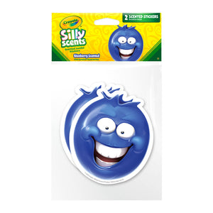 Jumbo Blueberry Crayola Silly Scents Scratch & Sniff Stickers *NEW!