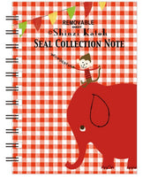 Elephant Check Blank Mini Sticker Book