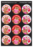 Friendship Bears Scratch 'n Sniff Stinky Stickers (Chocolate Cherry Scent) *NEW!