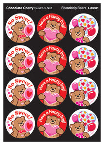 Friendship Bears Scratch 'n Sniff Stinky Stickers (Chocolate Cherry Scent)