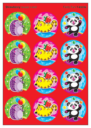 Furry Fun Scratch 'n Sniff Stinky Stickers (Strawberry Scent)