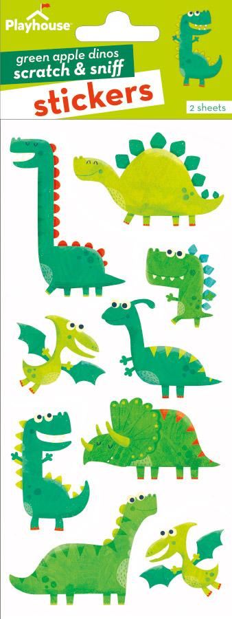 Green Apple Dinosaurs Scratch & Sniff Stickers