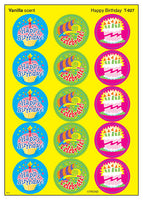 Happy Birthday Scratch 'n Sniff Stinky Stickers (Vanilla Scent)