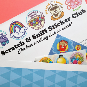 Scratch and Sniff Sticker Club Membership