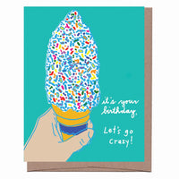 Vanilla Ice Cream Scratch & Sniff Greeting Card