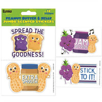 Jumbo Peanut Butter & Jelly Scented Stickers *NEW!