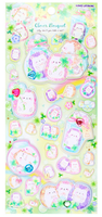 SUPER Puffy Clover Hedgehogs with Gems Puffy Stickers *NEW!