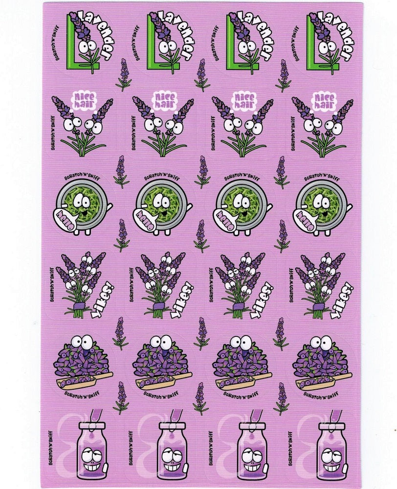 Lavender Scratch 'n' Sniff Stickers *NEW!