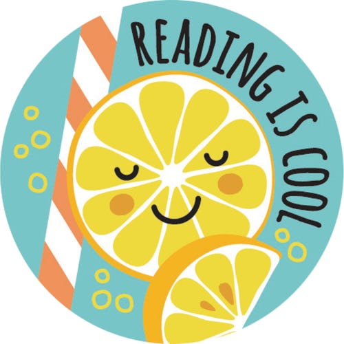 Reading Is Cool Lemonade Scented Sticker Sheet