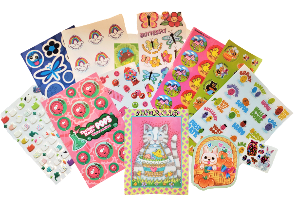 March SPRING THEME Sticker Club Pack *Limited-Edition*