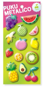 Fruit Metallic Puffy Stickers *NEW!