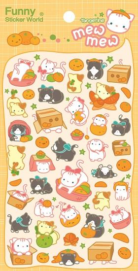 Mew Mew Kitty Puffy Stickers *NEW!
