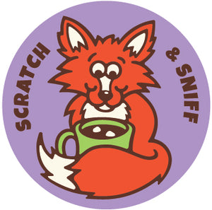 Peppermint Hot Chocolate Fox EverythingSmells Scratch & Sniff Stickers *NEW!