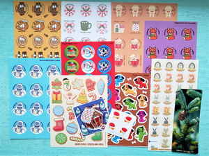 November CHRISTMAS/WINTER THEME Sticker Club Pack *Limited-Edition*