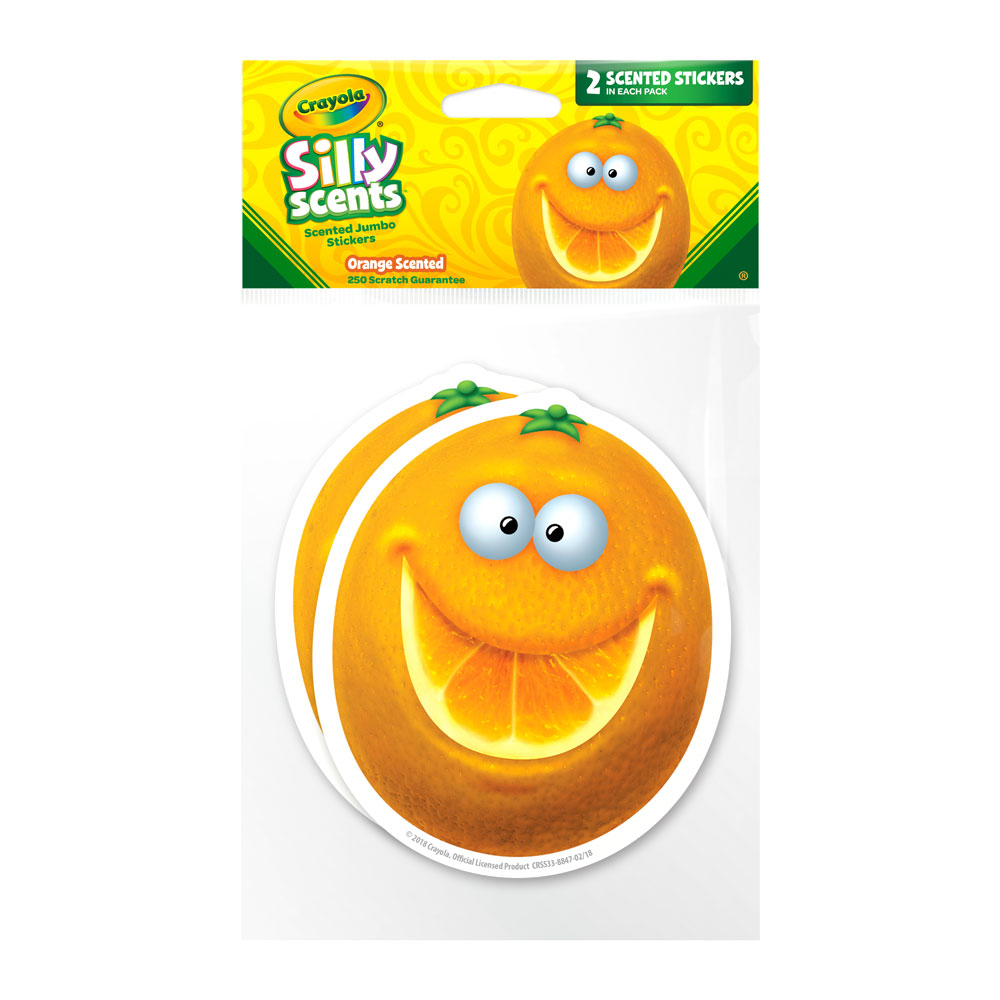 Jumbo Orange Crayola Silly Scents Scratch & Sniff Stickers *NEW!