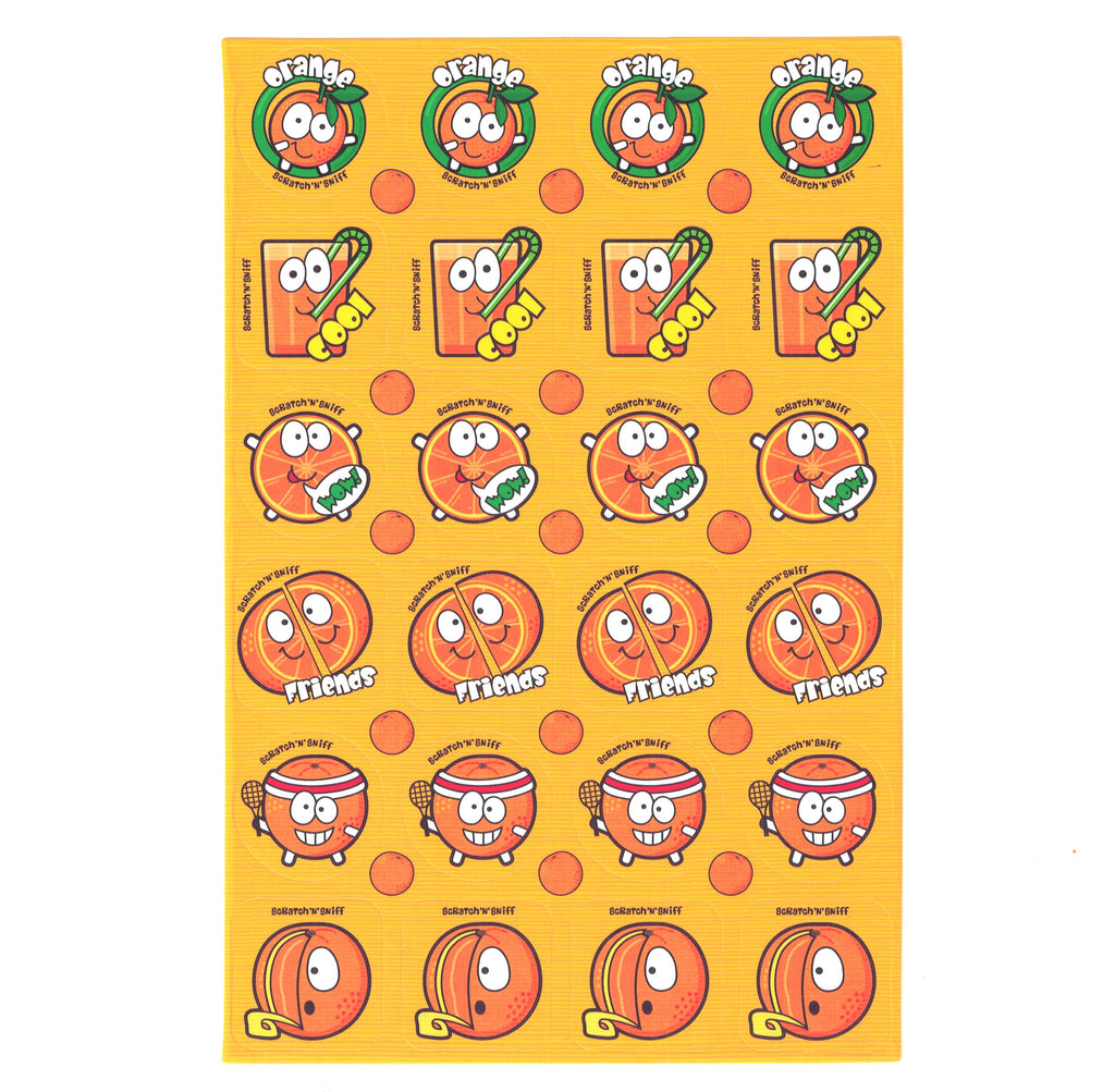 Orange Scratch 'n' Sniff Stickers for EverythingSmells