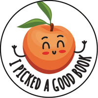 I Picked A Good Book Peach Scented Sticker Sheet *NEW!