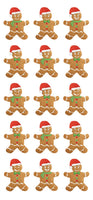 Gingerbread Men Puffy Stickers *NEW!