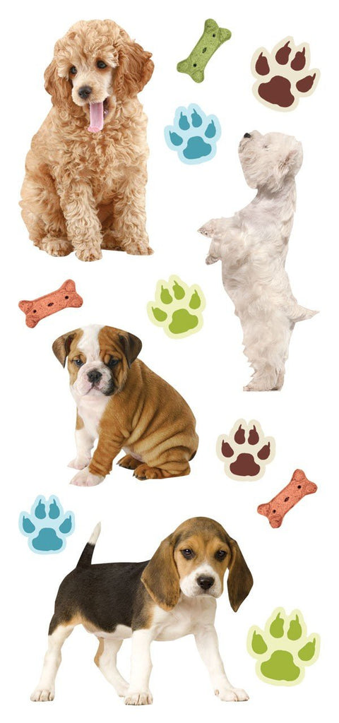 Puppy Puffy Stickers *NEW!