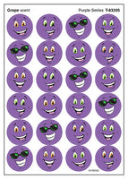 Purple Smiles Scratch 'n Sniff Stinky Stickers (Grape Scent)