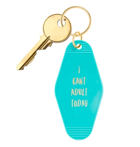I Can't Adult Today Retro Motel Keychain *NEW!