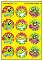 Ribbeting Rewards Scratch 'n Sniff Stinky Stickers (Pineapple Scent) *NEW!