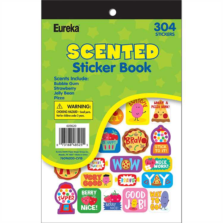 New Scratch /& Sniff Stickers Eureka Excellent Scent!! Strawberry