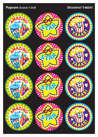 Showtime Scratch 'n Sniff Stinky Stickers (Popcorn Scent) *NEW!