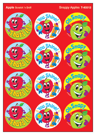 Snappy Apples Scratch 'n Sniff Stinky Stickers
