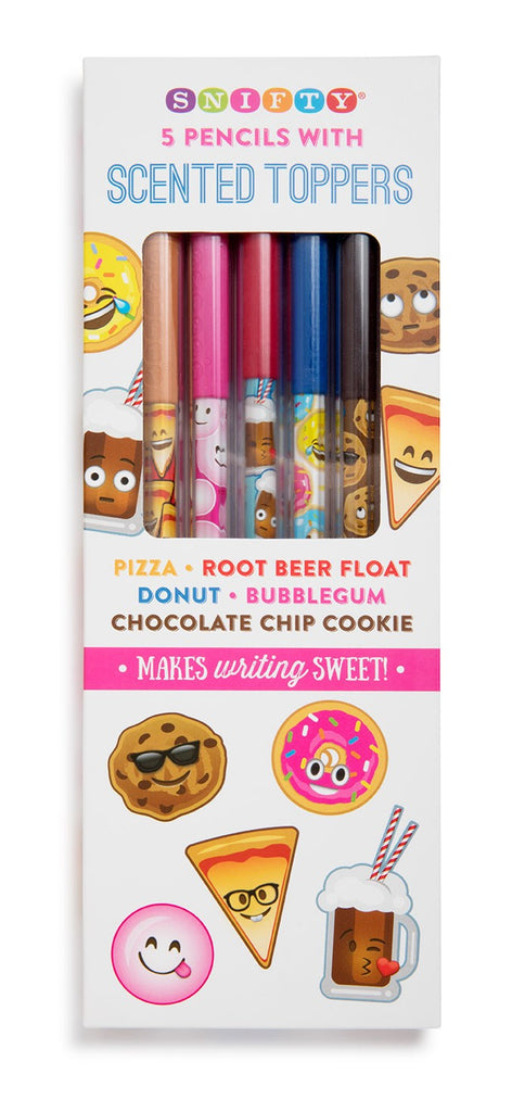 Food Themed Pencils with Scented Toppers (5 Pack)