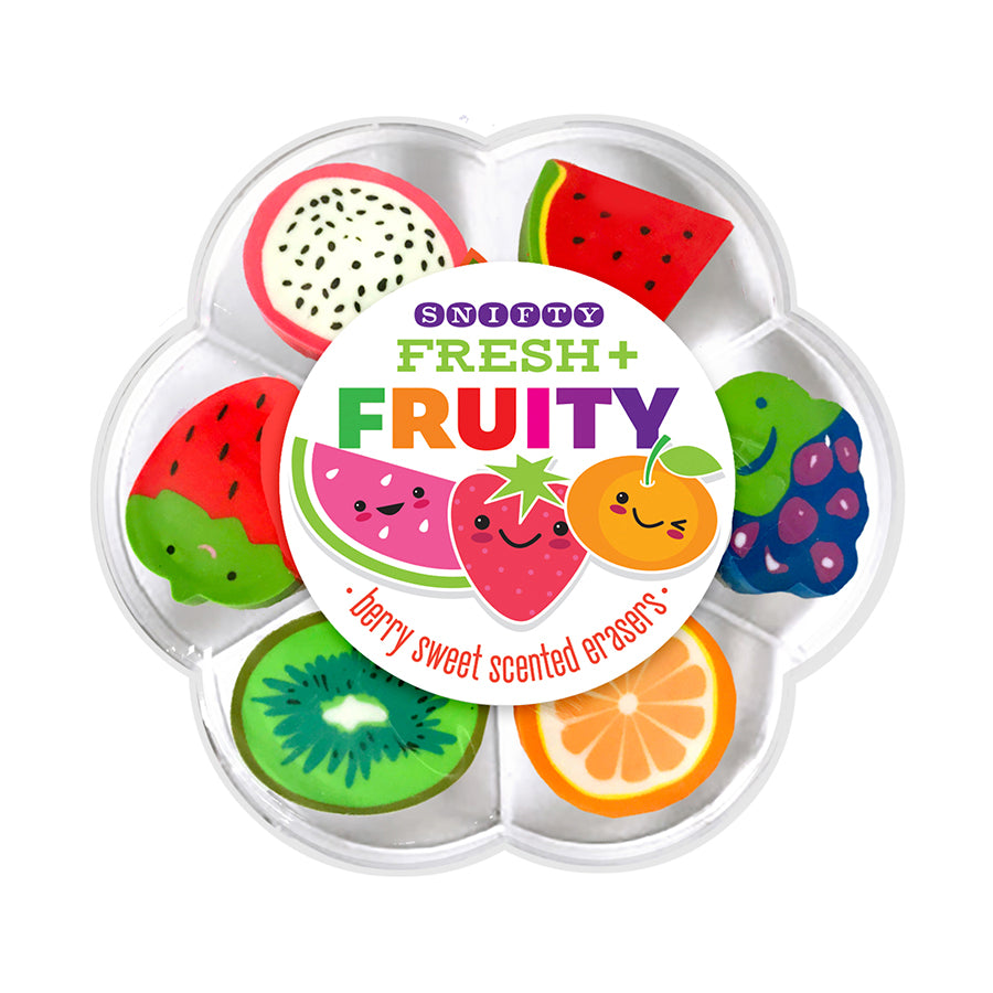 Fruit Scented Erasers in Case