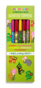 Zoo Themed Pencils with Scented Toppers (5 Pack) *NEW!