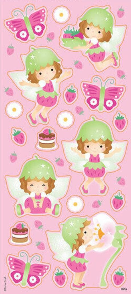 Pink Fairies Strawberry Scented Stickers *NEW!