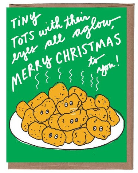 Tater Tots Christmas Scratch & Sniff Greeting Card *NEW!