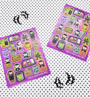 STINKY Vampire Scratch and Smell Garlic Scented Sticker Sheets (2)