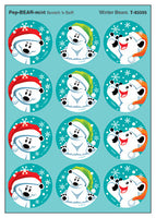 Winter Polar Bears Scratch 'n Sniff Stinky Stickers (Peppermint Scent)